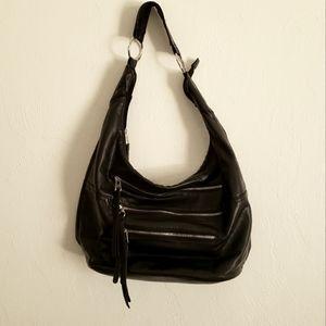 Bueno large black hobo shoulder bag